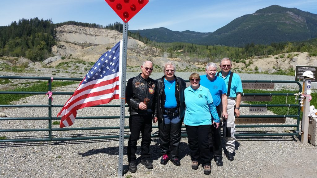 WA-I members Ron, Dianna, Dick, Shelby, Ted and Ray made the trip to the Oso, WA mudslide memorial